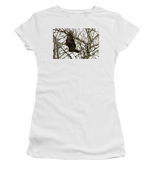 Women's T-Shirt (Junior Cut) featuring the photograph Taking Off by Michael Peychich