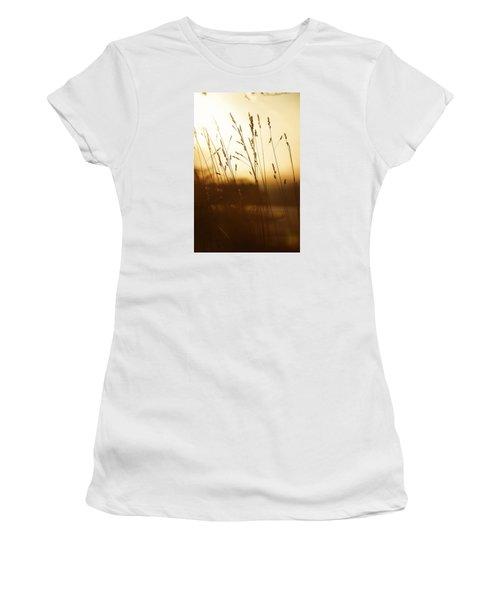 Tall Grass In The Morning Women's T-Shirt (Junior Cut) by Nikki McInnes