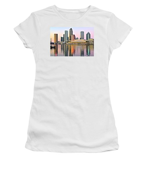 Tampa In Vivid Color Women's T-Shirt (Junior Cut) by Frozen in Time Fine Art Photography