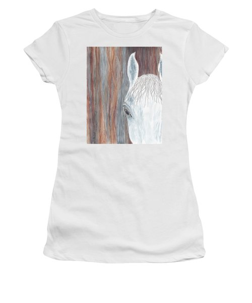 Women's T-Shirt featuring the painting Tanglewood by Kathryn Riley Parker