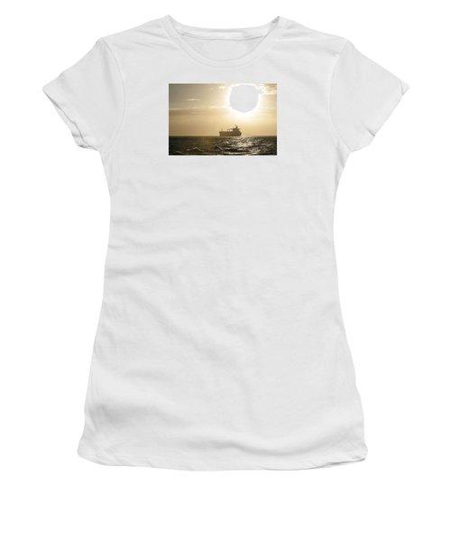 Tanker In Sun Women's T-Shirt (Athletic Fit)