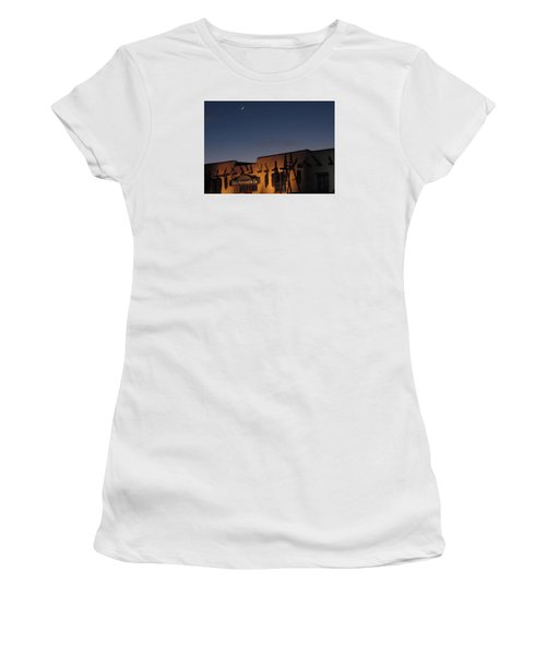 Taos Plaza Women's T-Shirt (Junior Cut) by Christopher Kirby