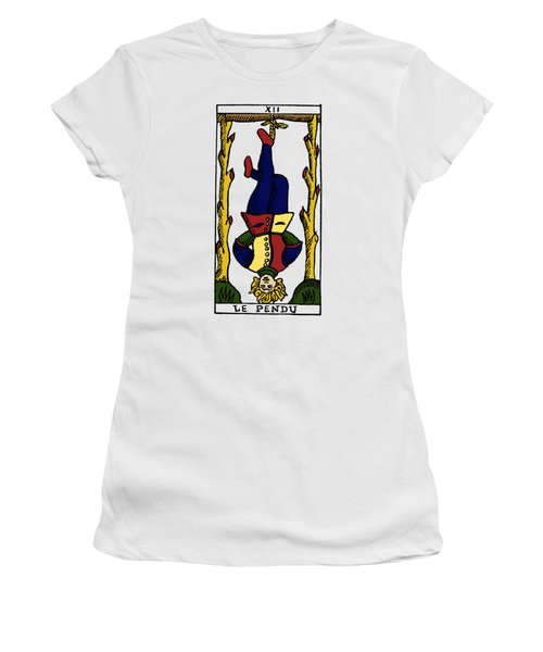 Tarot Card The Hanged Man Women's T-Shirt (Junior Cut) by Granger