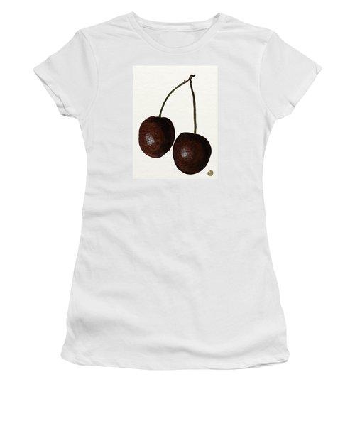 Tasty Red Cherries Women's T-Shirt (Junior Cut) by Zilpa Van der Gragt