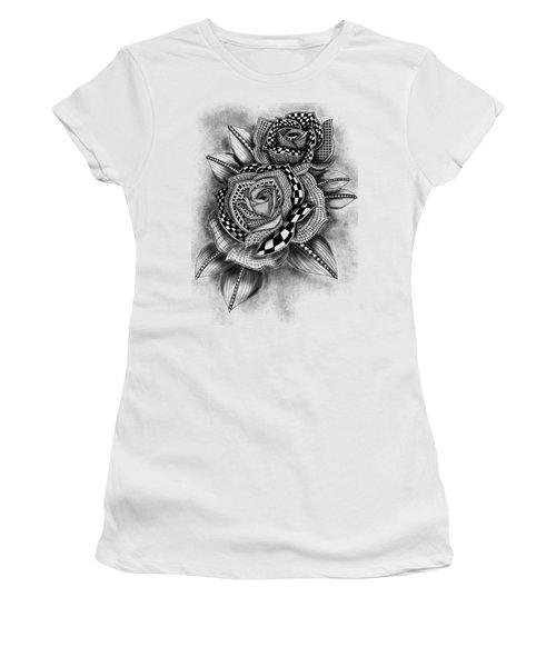 Tattoo Rose Greyscale Women's T-Shirt
