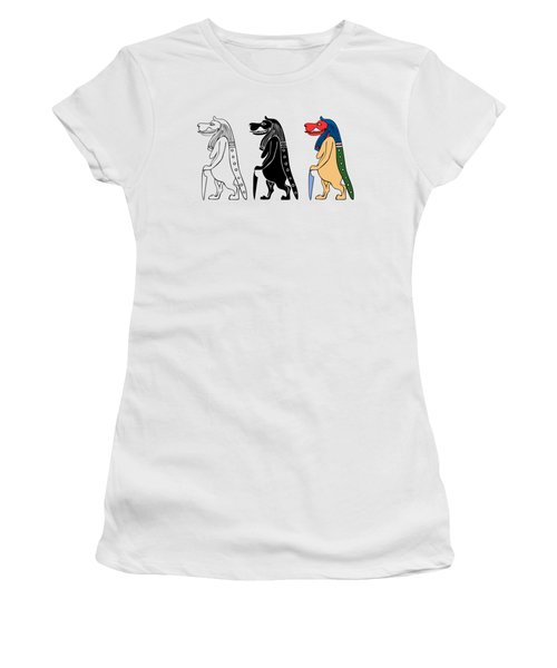 Women's T-Shirt (Junior Cut) featuring the digital art Taweret - Mythical Creature Of Ancient Egypt by Michal Boubin