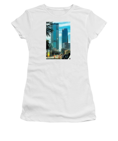 Women's T-Shirt (Junior Cut) featuring the photograph Tax Dollars At Work by Joan Bertucci