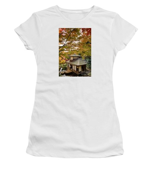 Tea Ceremony Room Women's T-Shirt (Junior Cut) by Tad Kanazaki