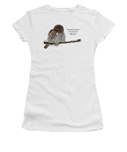 Tea Owl Women's T-Shirt (Athletic Fit)
