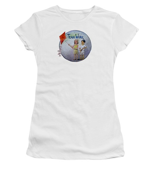 Teamwork Women's T-Shirt (Athletic Fit)