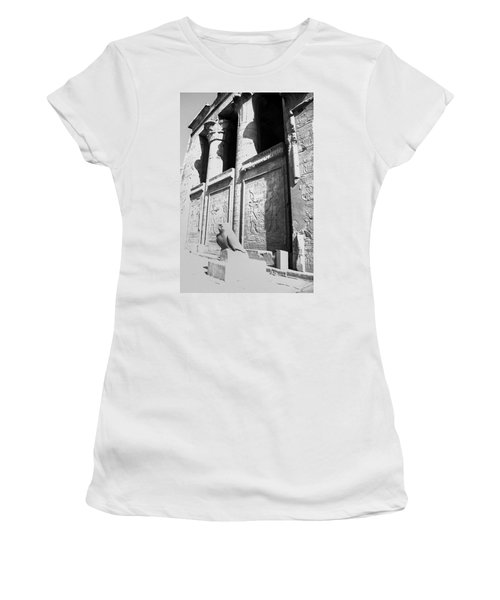 Women's T-Shirt (Athletic Fit) featuring the photograph Temple Of Horus by Silvia Bruno