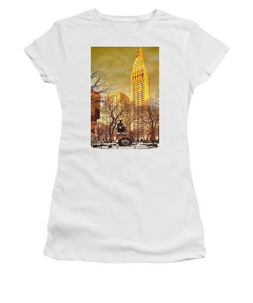 Ten Past Four At Madison Square Park Women's T-Shirt (Athletic Fit)