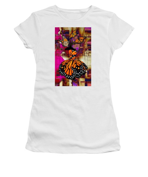 Women's T-Shirt (Athletic Fit) featuring the mixed media Tenderly by Marvin Blaine