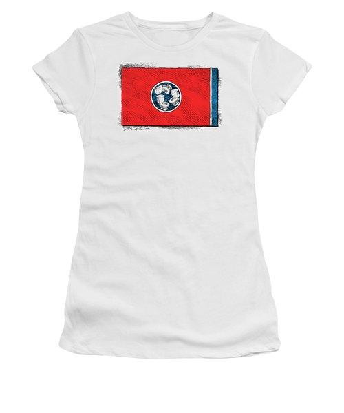 Tennessee Bathroom Flag Women's T-Shirt