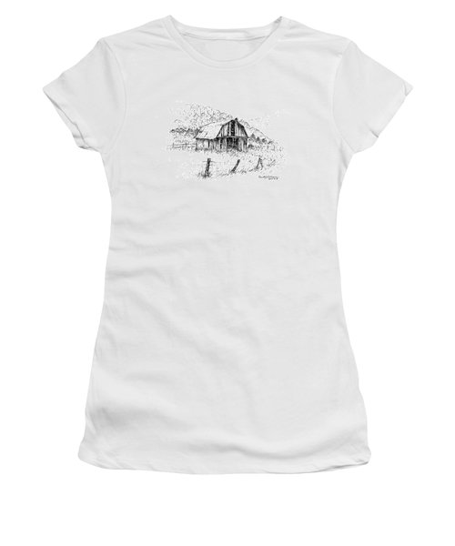 Tennessee Hills With Barn Women's T-Shirt (Athletic Fit)