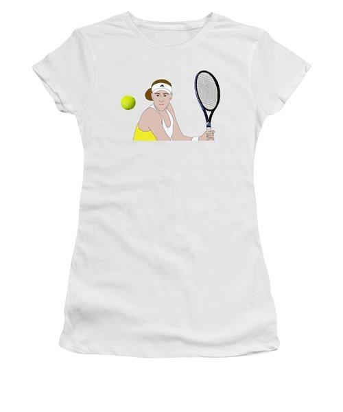 Tennis Ball Focus Women's T-Shirt (Athletic Fit)