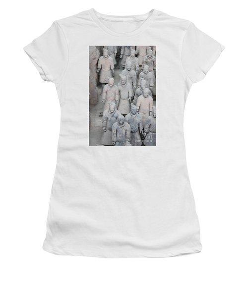 Terra Cotta Warriors Detail Women's T-Shirt (Athletic Fit)