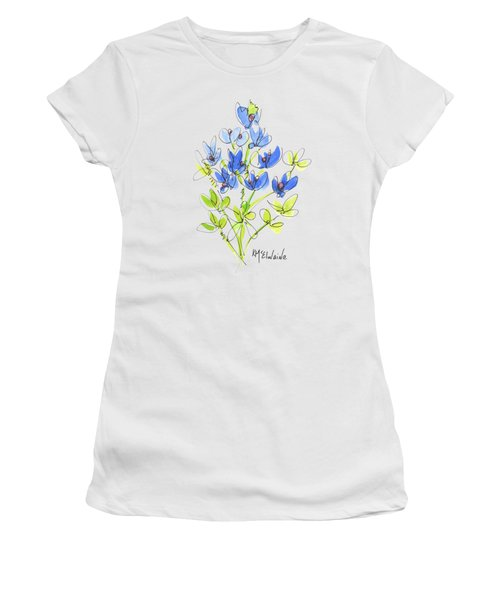 Texas Bluebonnet Botanical Women's T-Shirt (Athletic Fit)