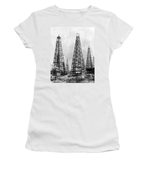 Texas: Oil Derricks, C1901 Women's T-Shirt