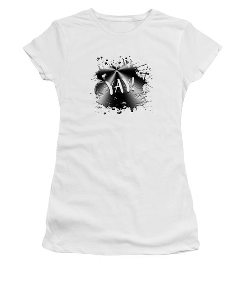 Text Art Yay Women's T-Shirt (Athletic Fit)