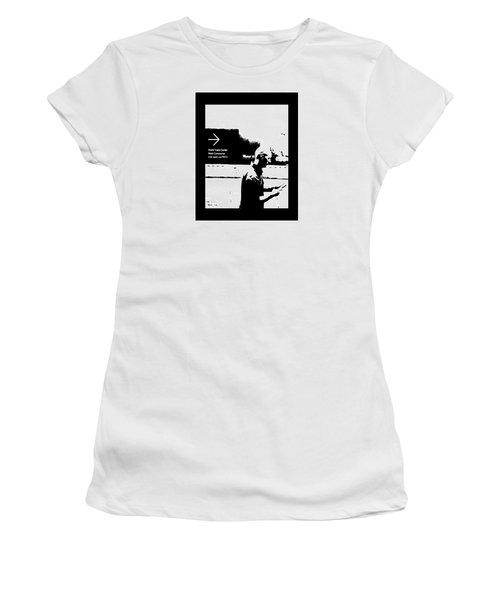 Text Women's T-Shirt (Junior Cut) by Steve Godleski