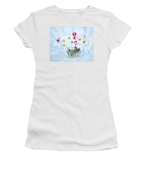 Thank You. Thank You - Je Vous Remerci Collection Of 2 Paintings Women's T-Shirt (Athletic Fit)