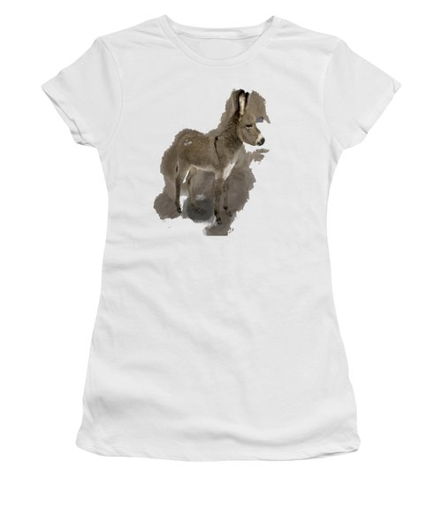That Cute Donkey Foal In Profile Women's T-Shirt (Athletic Fit)