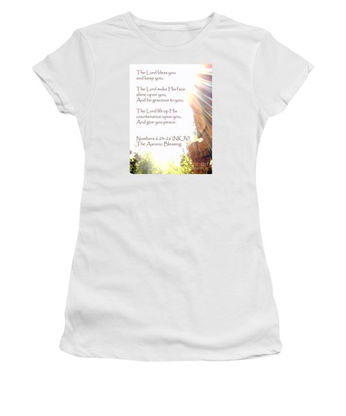 The Aaronic Blessing And True Light Lower Emerald Pools Zion Women's T-Shirt (Athletic Fit)