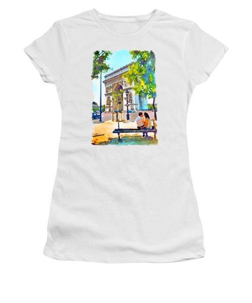 The Arc De Triomphe Paris Women's T-Shirt
