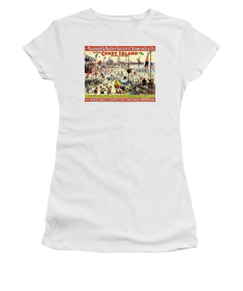 The Barnum And Bailey Greatest Show On Earth The Great Coney Island Water Carnival Women's T-Shirt