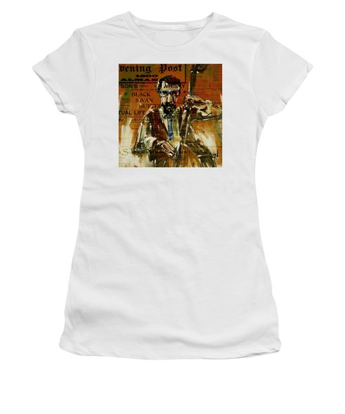 Women's T-Shirt (Athletic Fit) featuring the digital art The Bass Player by Jim Vance