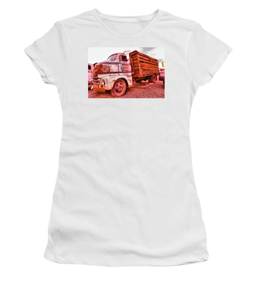 Women's T-Shirt (Junior Cut) featuring the photograph The Beauty Of An Old Truck by Jeff Swan