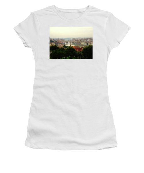 Women's T-Shirt (Junior Cut) featuring the photograph The Beauty Of Florence  by Alan Lakin