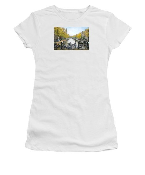 The Bicycle City Of Amsterdam Women's T-Shirt