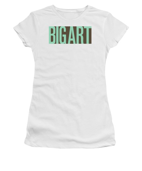 The Big Art - Pure Emerald On Cotton Women's T-Shirt (Athletic Fit)