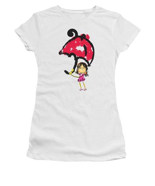 The Big Umbrella - Cute Art Women's T-Shirt