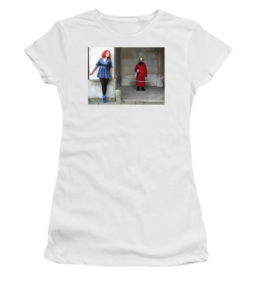 The Blue Ballet Shoes Hide From The Queen's Guard Women's T-Shirt