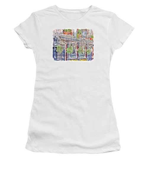 Women's T-Shirt (Athletic Fit) featuring the digital art The Bonny Boat An Historic English Pub by Anthony Murphy