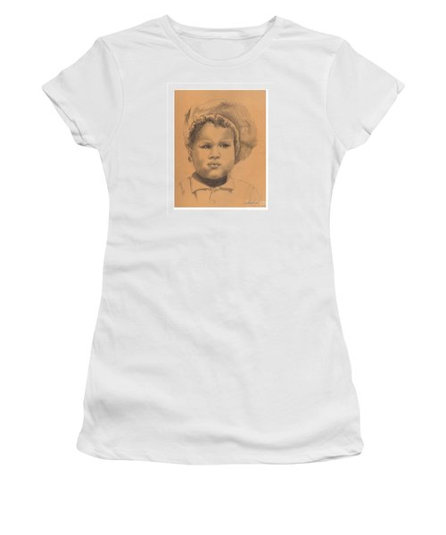 The Boy Who Hated Cheerios -- Portrait Of African-american Child Women's T-Shirt (Athletic Fit)