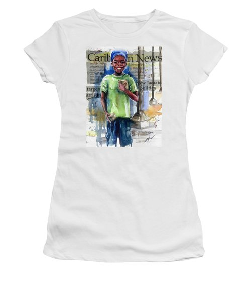 The Boy Who Sells Peanuts Women's T-Shirt