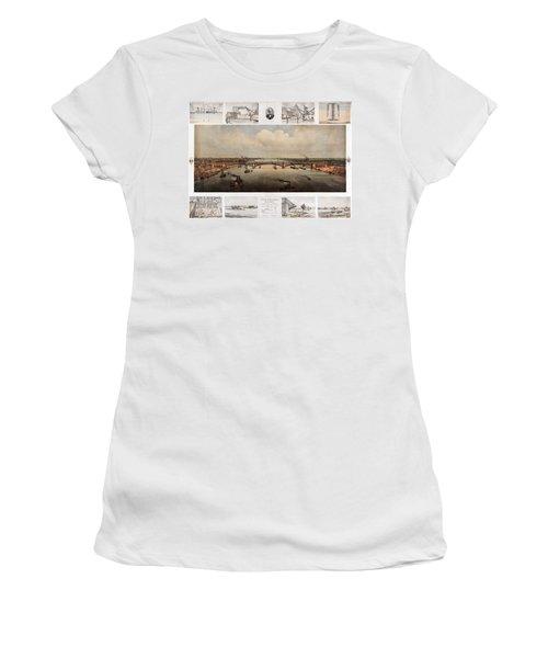 The Bridge At St. Louis, Missouri, Ca. 1874 Women's T-Shirt
