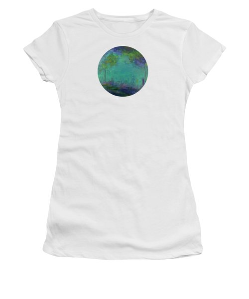 The City In The Distance Women's T-Shirt (Junior Cut) by Mary Wolf