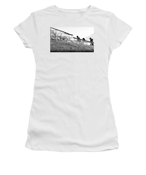 Women's T-Shirt (Athletic Fit) featuring the photograph The Climbers by John Williams