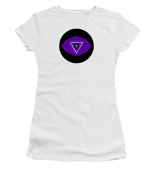 The Conscious Mind - Brow Chakra Art Print - Conscious Quote Prints  Women's T-Shirt