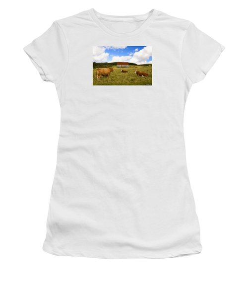 The Cows Of Mabou Women's T-Shirt (Athletic Fit)