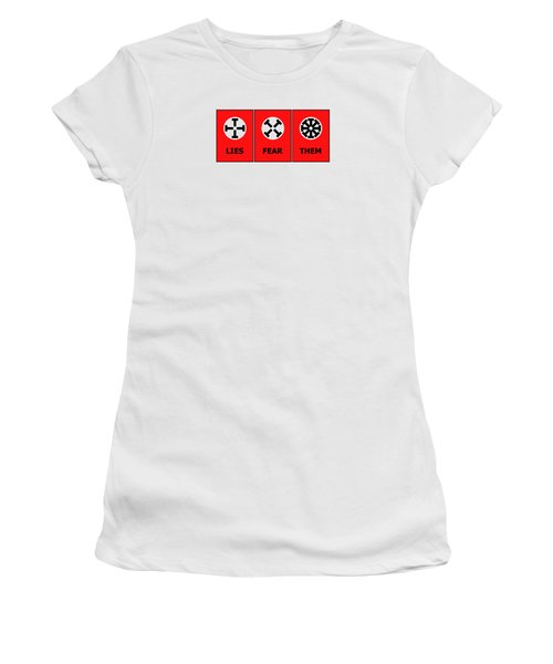 Women's T-Shirt (Junior Cut) featuring the digital art The Edge Of Dystopia by Richard Reeve