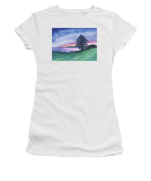 The Edge Of Evening Women's T-Shirt (Athletic Fit)