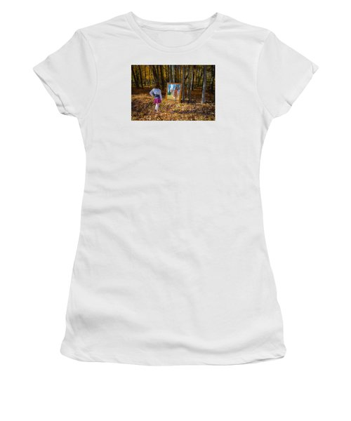 The Fairy In The Mirror Women's T-Shirt (Athletic Fit)