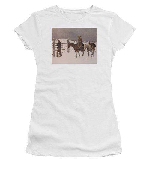 The Fall Of The Cowboy Women's T-Shirt (Athletic Fit)