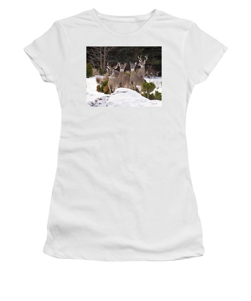 Women's T-Shirt featuring the photograph The Family by Angel Cher